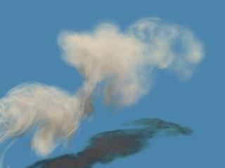 Simulation of Smoke based on Vortex Filament Primitives